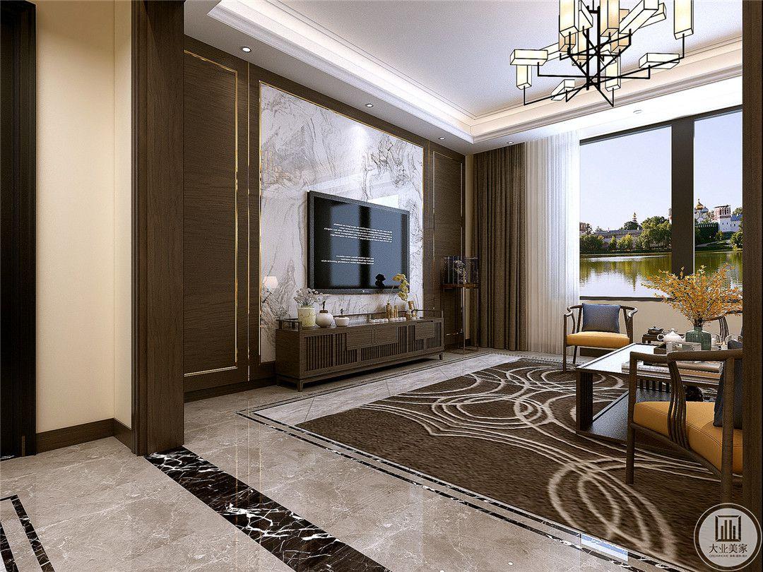 从这里可以看到客厅的整体布局。