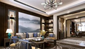 济南财富中心178平米新中式风格装修效果图