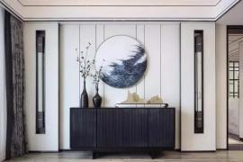 济南装修公司大业美家分享新中式玄关装修设计,美极了!