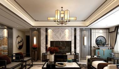济南鼎秀家园140平米新中式风格装修效果图