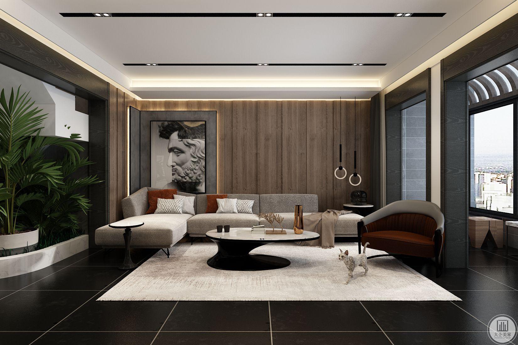 济南新生活家园225平米现代风格装修效果图