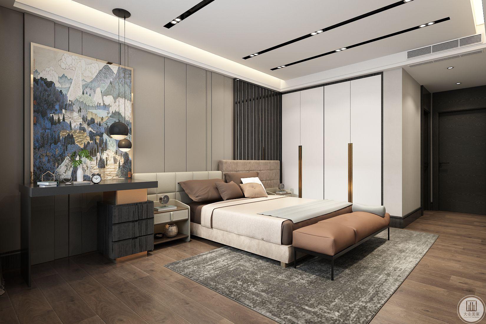 卧室装修效果图:从这里可以看到整个卧室的风格。