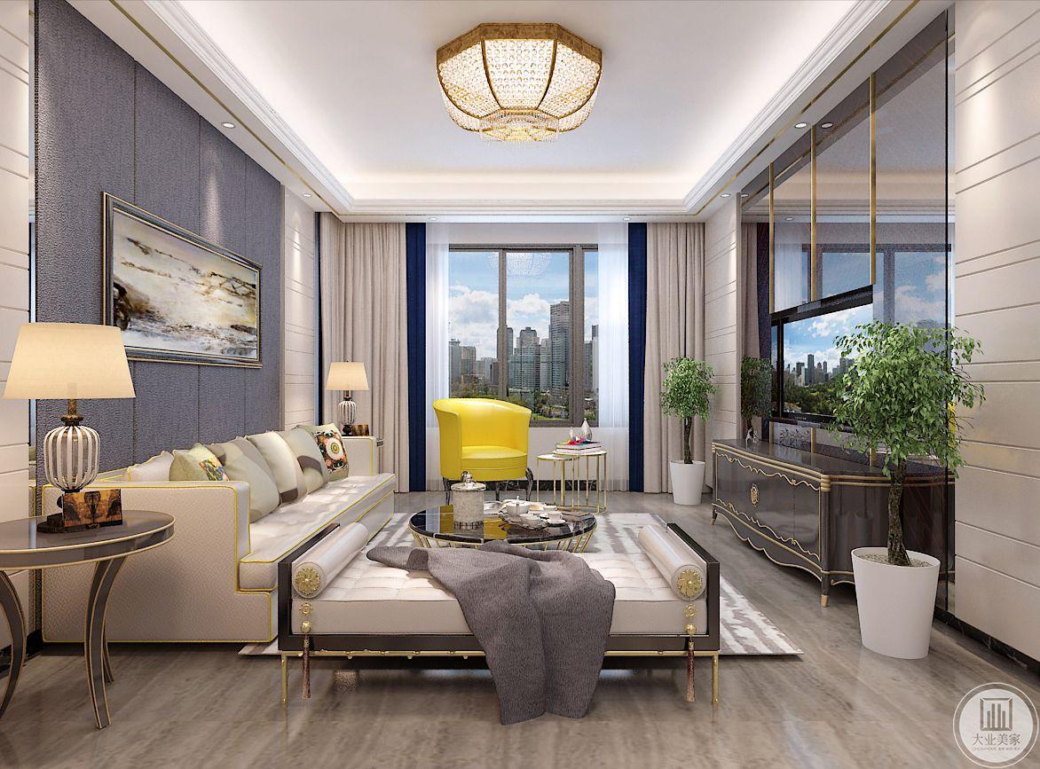 客厅装修效果图:忙碌的工作生活,早已让我们烦腻了都市的灯红酒绿。回到家我们更愿意待在一个简单的环境里,给自己的身心一个放松的空间。