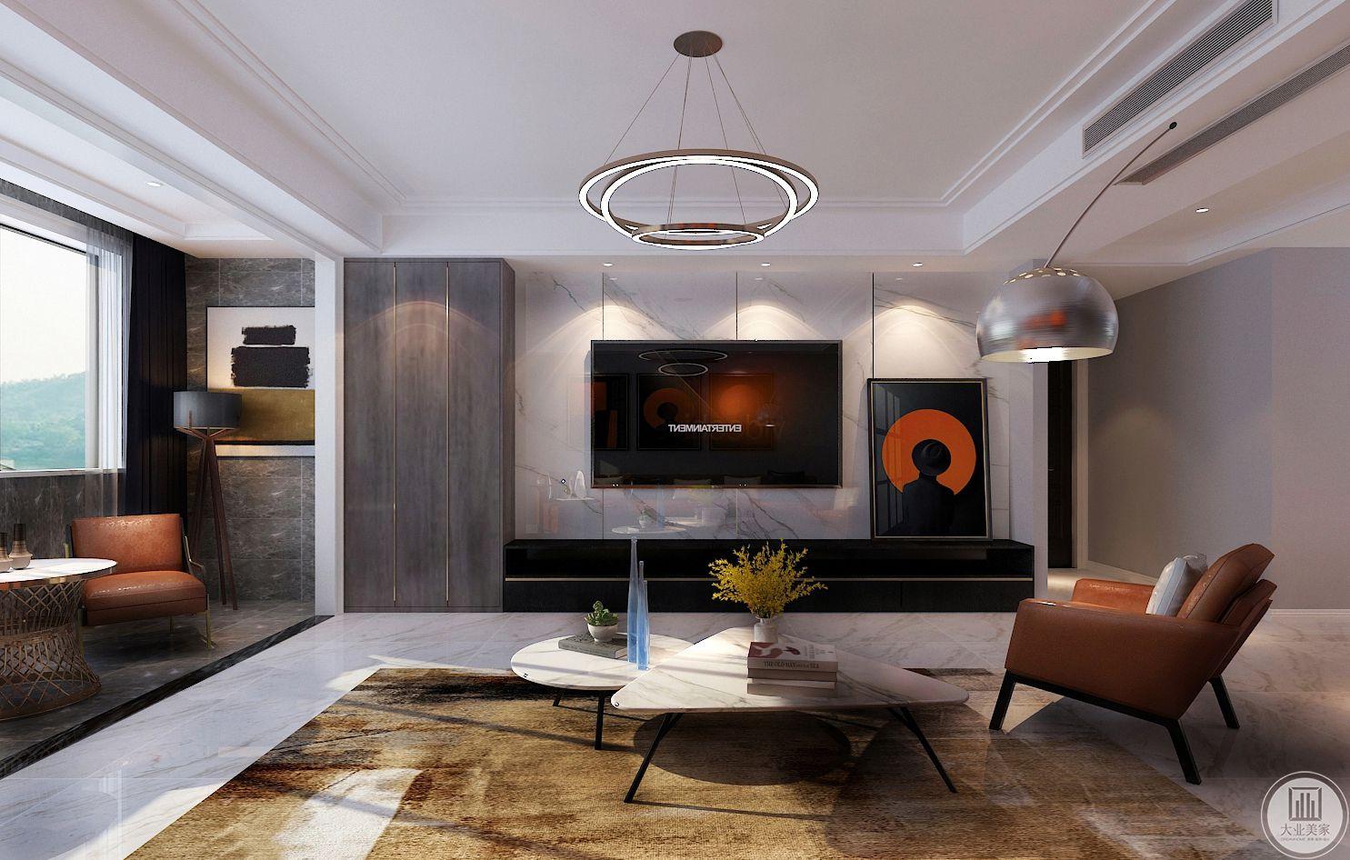 客厅装修效果图:简而不失其华,奢不显其涩,这才是我们现在需要的,它不仅是一种风格,一种时尚 它更是一种精神向导生活方式。