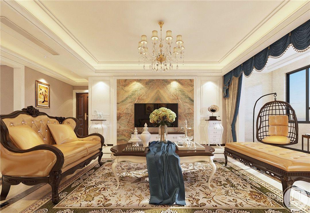 济南鼎秀家园208平米简欧风格装修效果图