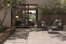 济南别墅装修:院子里可以铺瓷砖?真的很漂亮?