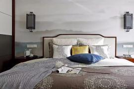 济南大业美家分享为什么喜欢新中式卧室,因为讲究的是韵味!
