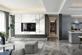 济南别墅装修:200平米顶级复式别墅装修效果图,绝佳质感打造高级范!