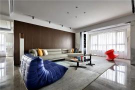 济南历下区装修:160㎡时尚轻奢美宅,享受居家的静谧时光!
