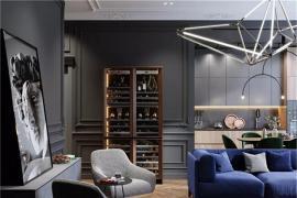 济南别墅装修:高级灰撞色,组合出来的极致时尚效果!