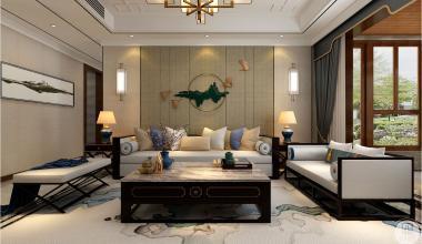 水榭香墅200平米新中式风格装修效果图