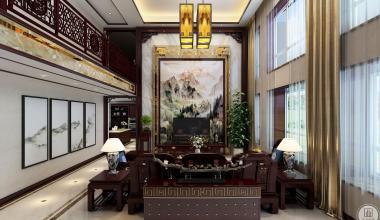 唐人中心1200平米新中式风格装修效果图