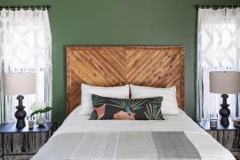 享受自然空气,经典绿色系卧室,打造夏日避暑花园!