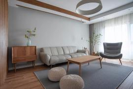 125平米简约原木风格装修效果图,文艺治愈系三房!