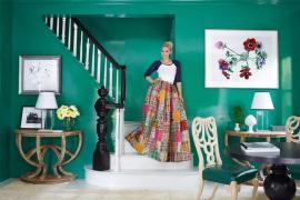 演绎微光城市的浪漫家居,轻奢和绿色的搭配!