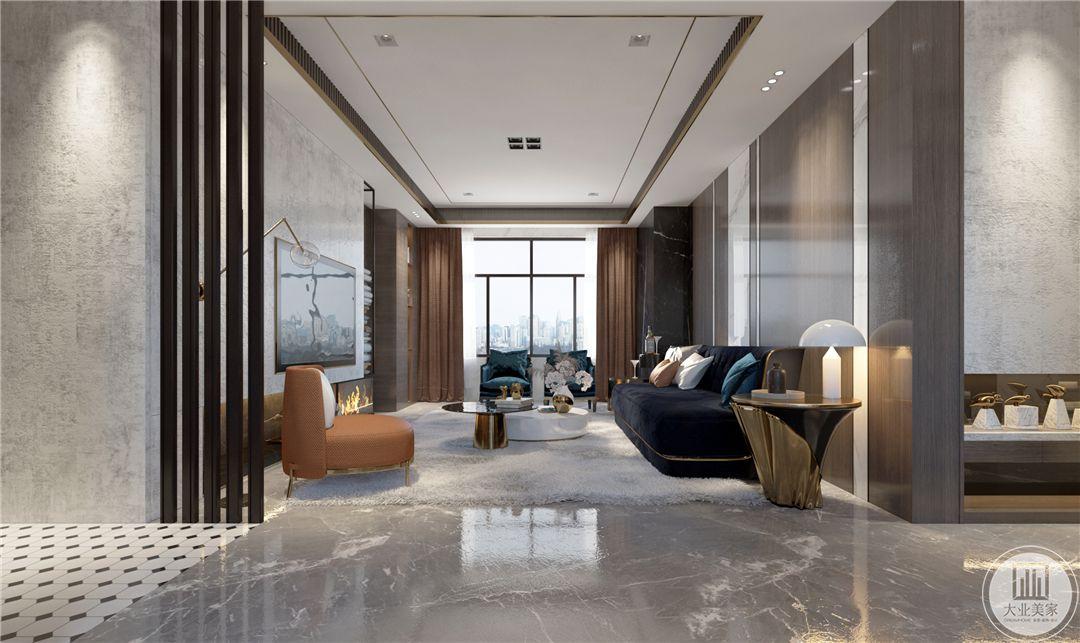 龙湖春江郦城270平米现代轻奢风格装修效果图