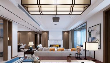 海信贤文世家170平米新中式风格装修效果图