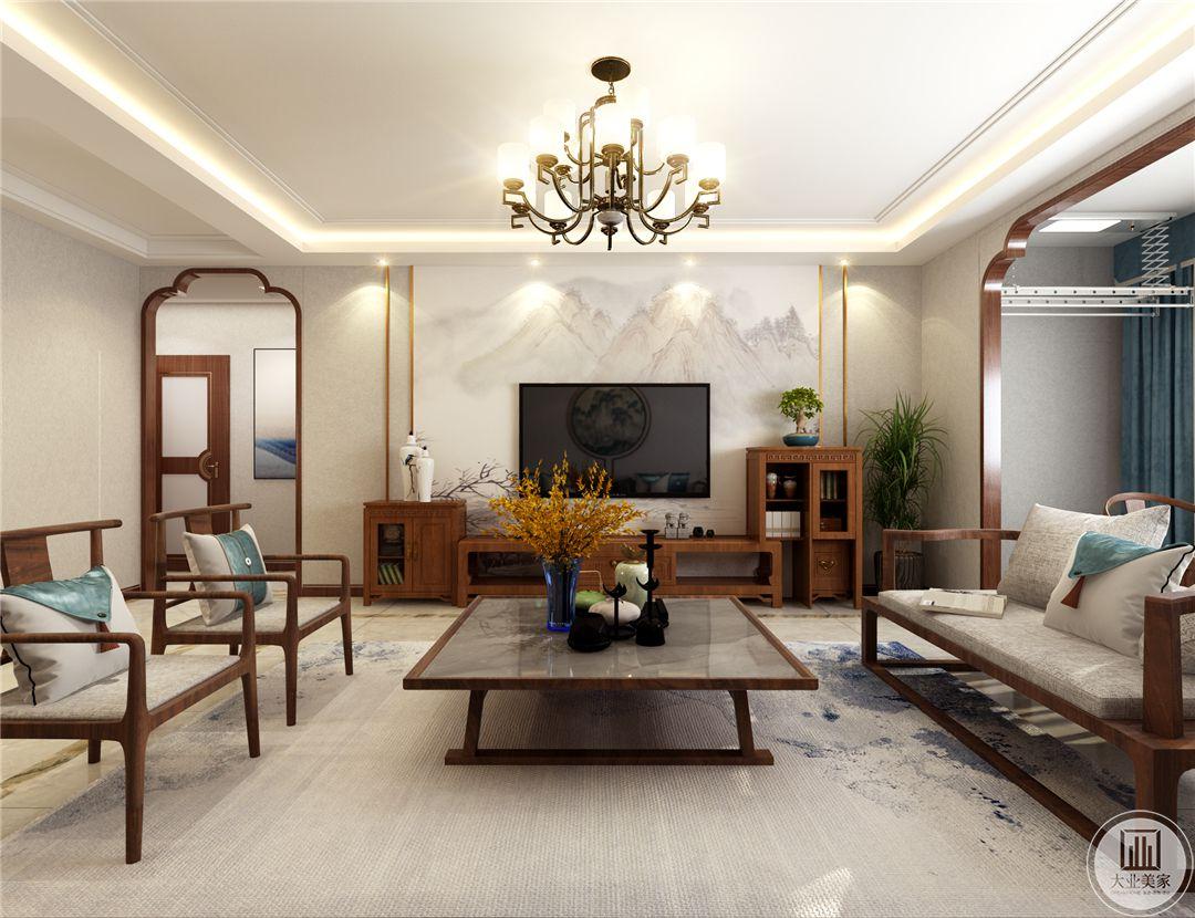 鼎秀家园150平米新中式风格装修效果图