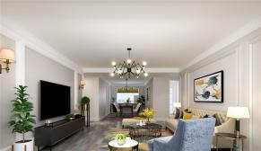 鼎秀家园180平米轻奢美式风格装修效果图