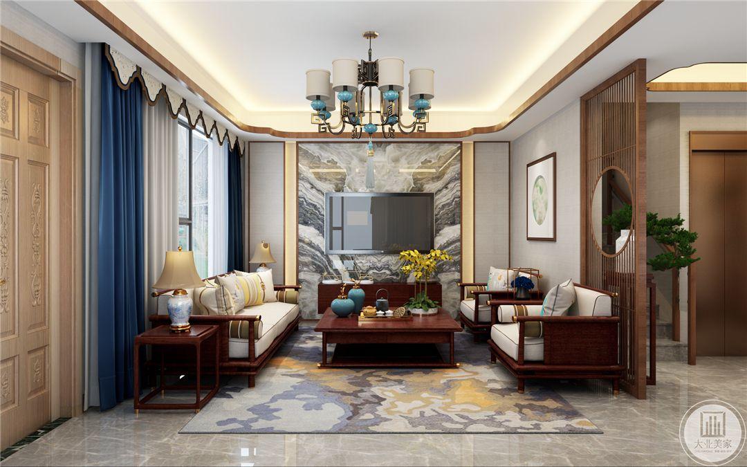 诺德名府160平米新中式别墅装修效果图