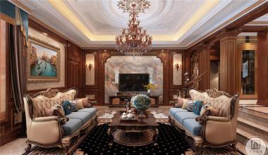 中海国际奥龙观邸450平米欧式风格装修效果图