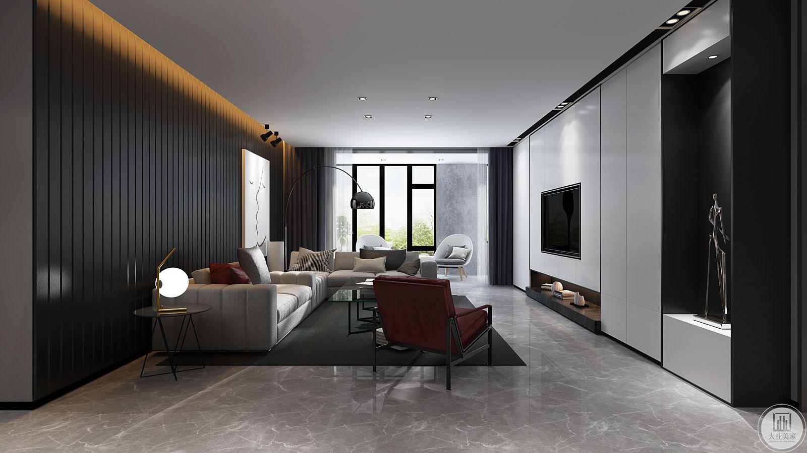 客厅在一个空间可以感受几个空间的存在,空间没有进行过多的界定,这正是空间的魅力。