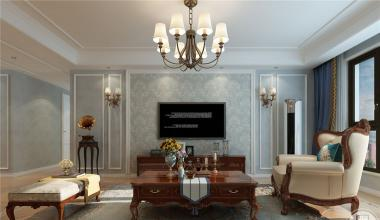鲁能领秀城140平米美式风格装修效果图