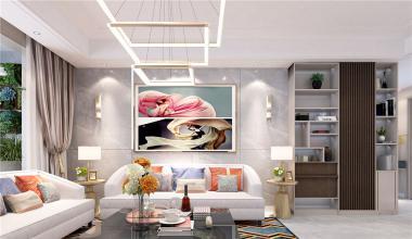 三庆城市主人160平米简约轻奢风格装修效果图