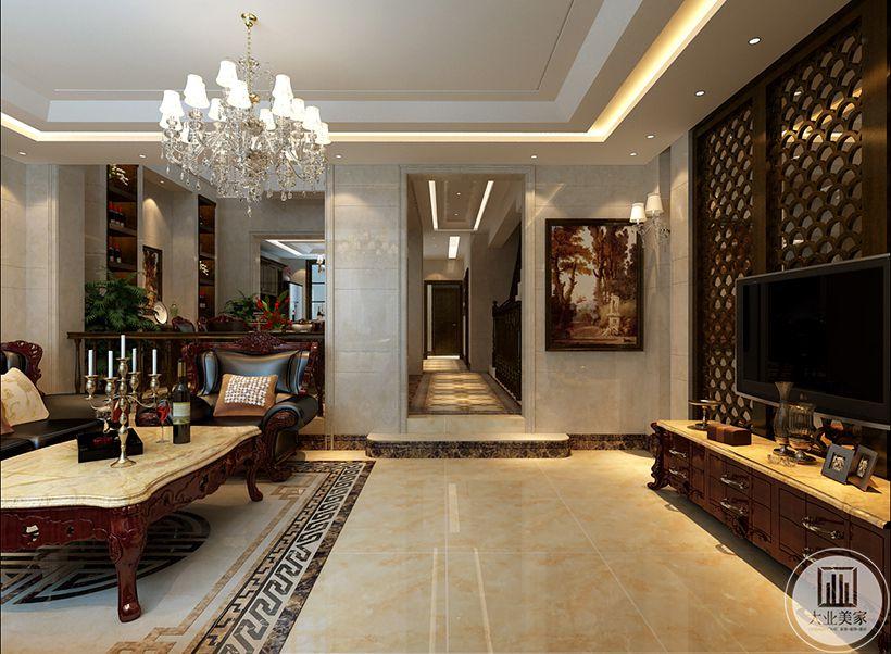 中海铂宫380平米欧式古典装修效果图