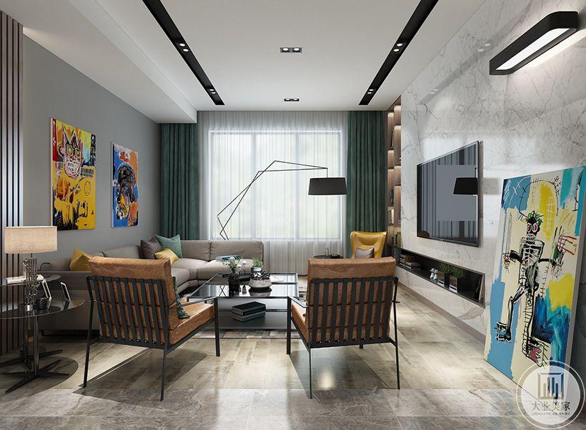 名悦山庄144平米现代台式风格装修效果图