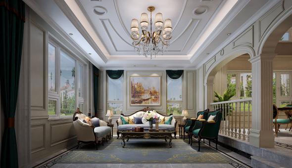 华山珑城360平米美式风格装修效果图