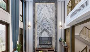 鲁能领秀公馆280平米中式风格装修效果图