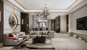 华山珑城300平米新中式风格装修效果图