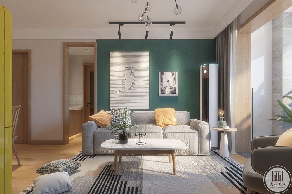 大面积的落地窗更好的实现了北欧风格所需要的光感。
