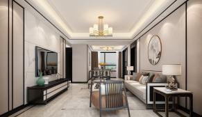 融创财富中心145新中式风格装修效果图
