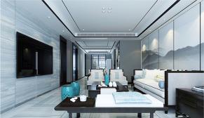 财富中心170平新中式风格装修效果图
