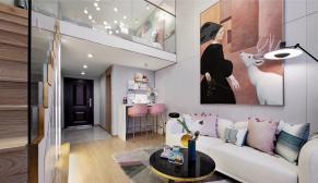 世贸LOFT天悦公寓现代轻奢装修效果图