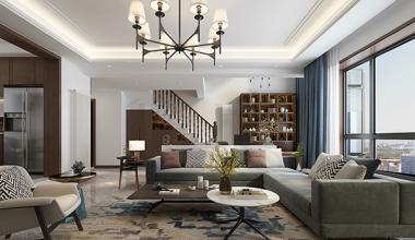 新生活家园230平方现代风格装修效果图