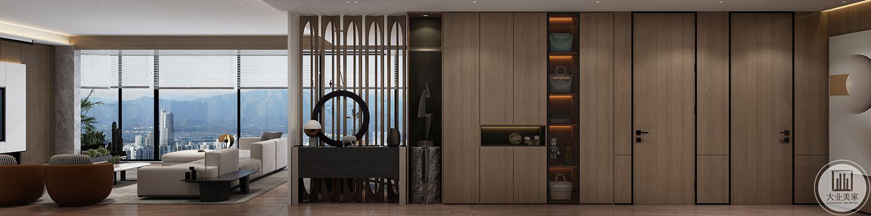 客餐厅  入户玄关区和入户柜的结合