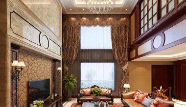 中海别墅480平美式装修效果图