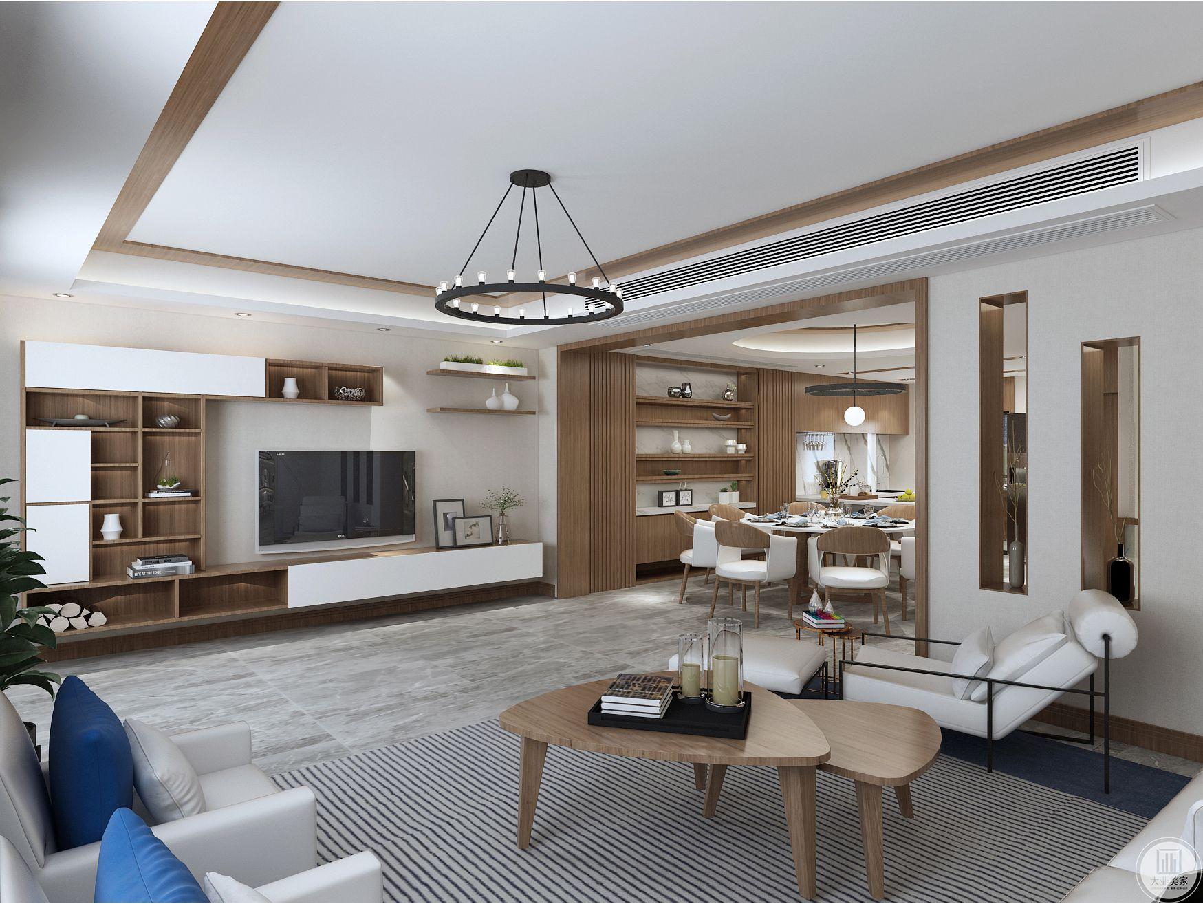 原木风格并非单调而冷硬的木质感,照样给生活居室带来不一样的亮点。