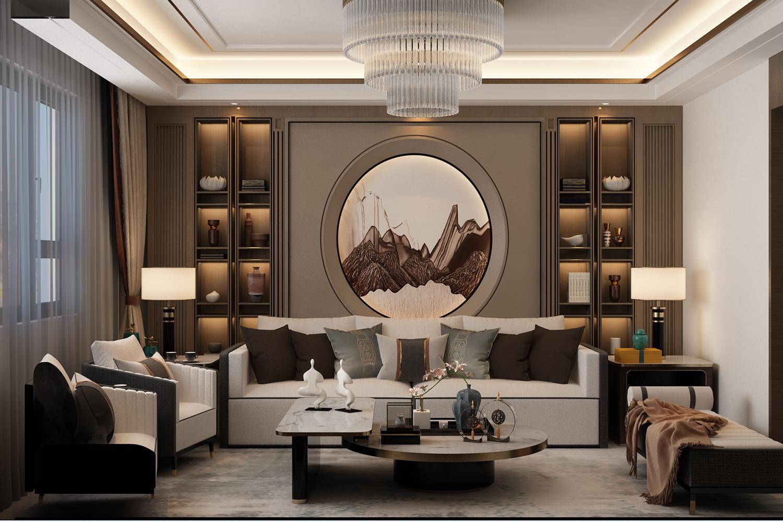 鼎秀家园160平古典中式装修效果图