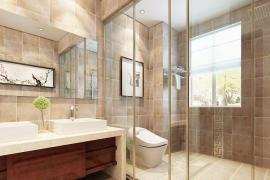 卫浴间装修选择浴帘还是玻璃隔断