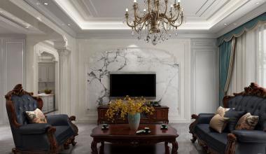 桂花园1000平米欧式宫廷别墅装修效果图
