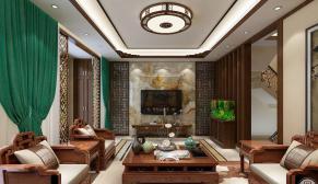 理想之城合院380平米新中式装修效果图