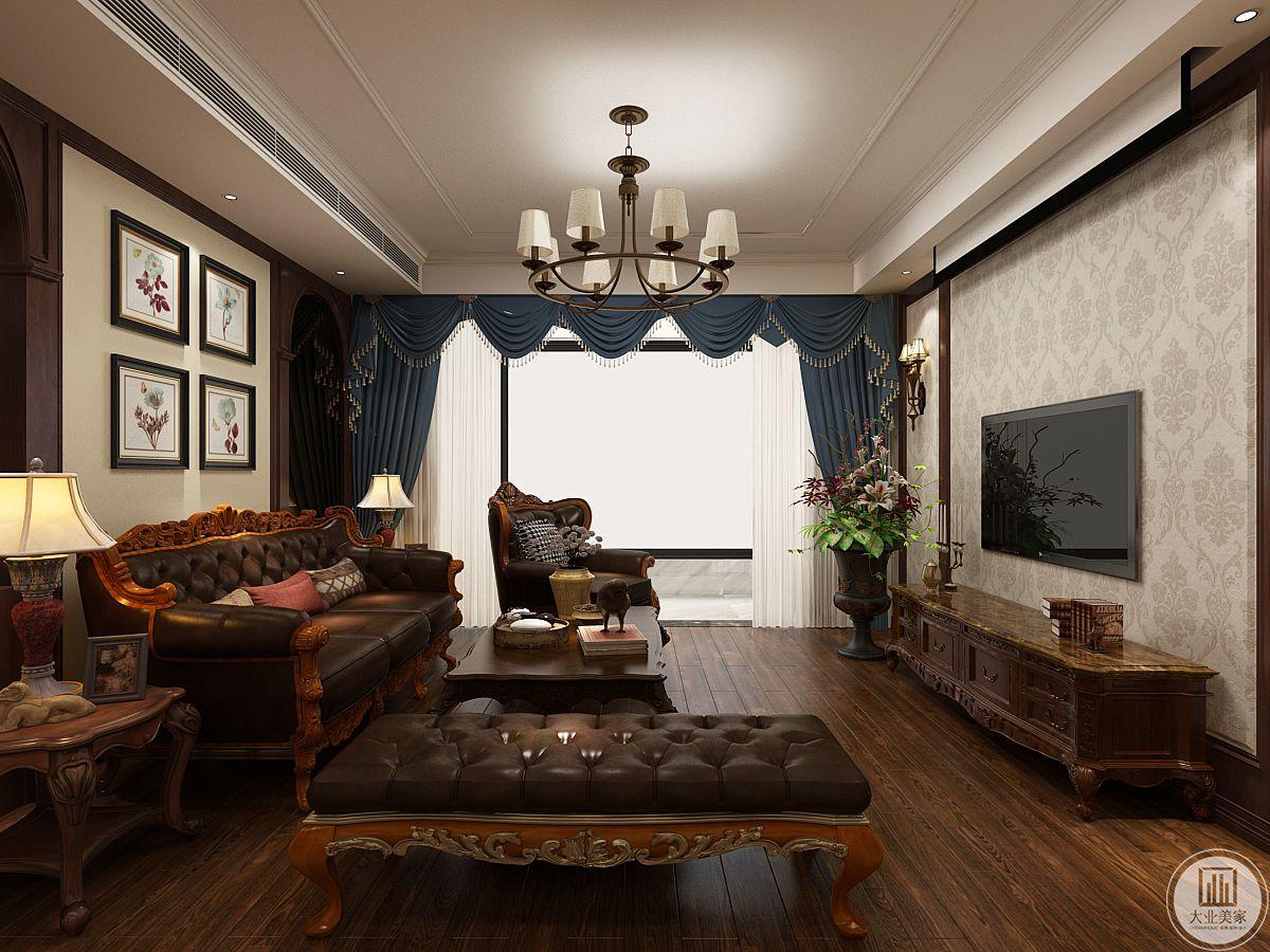 中海云麓公馆172平美式古典装修效果图