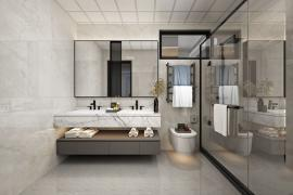 济南大业美家,卫生间对着客厅应该如何装修?