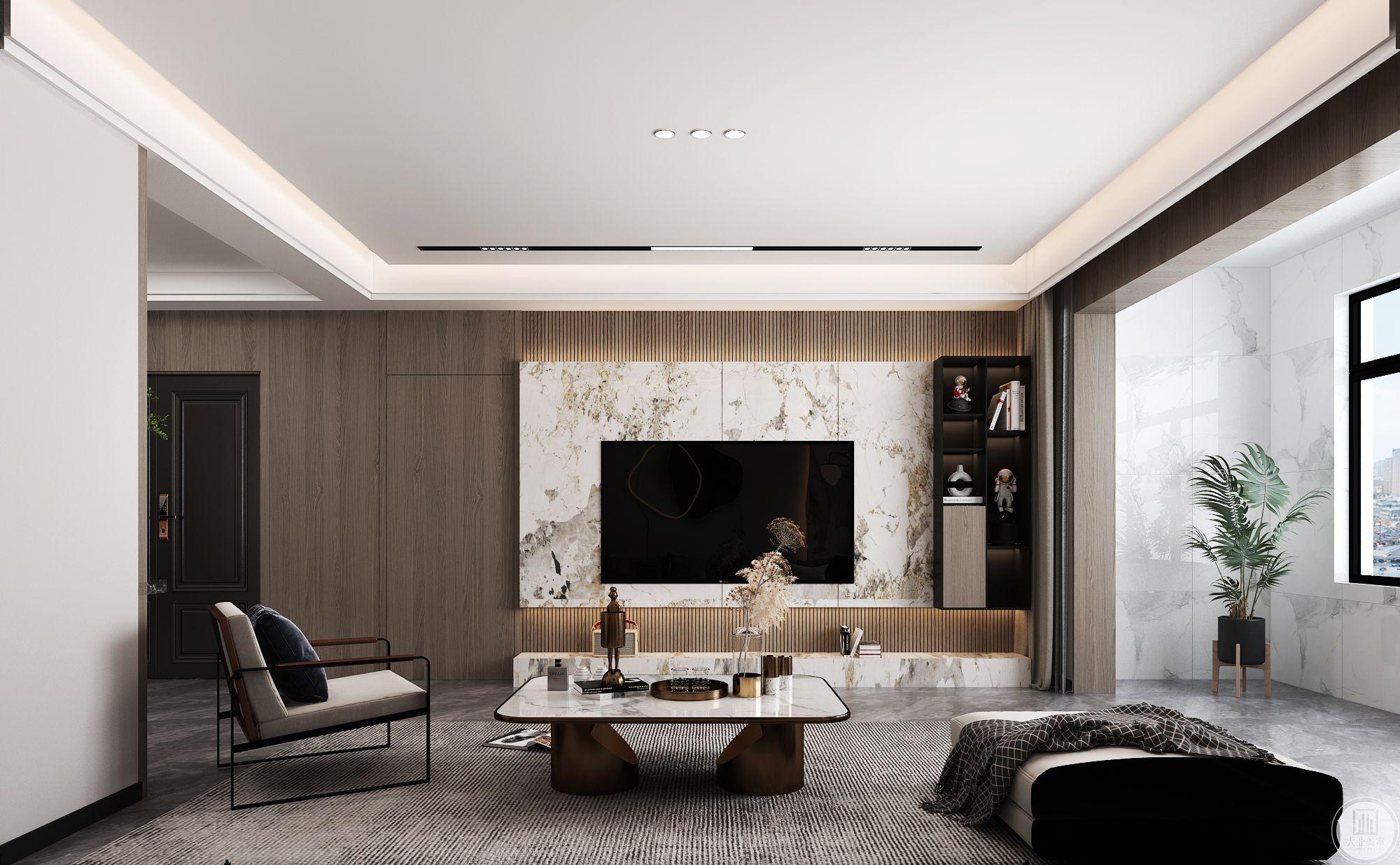 名士观邸171平现代简约装修设计案例