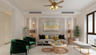 海尔绿城全运村麗园150美式轻奢装修设计案例