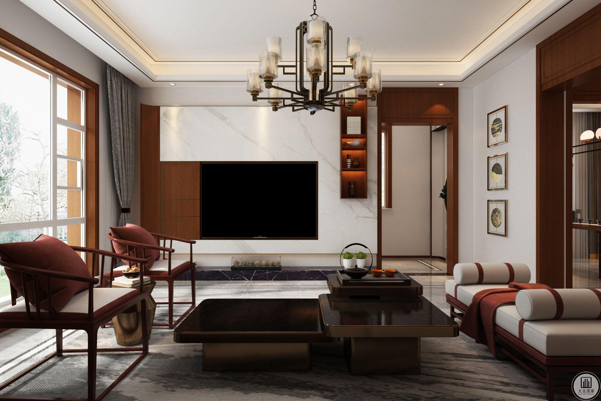 银丰悦珑府320平中式装修设计案例